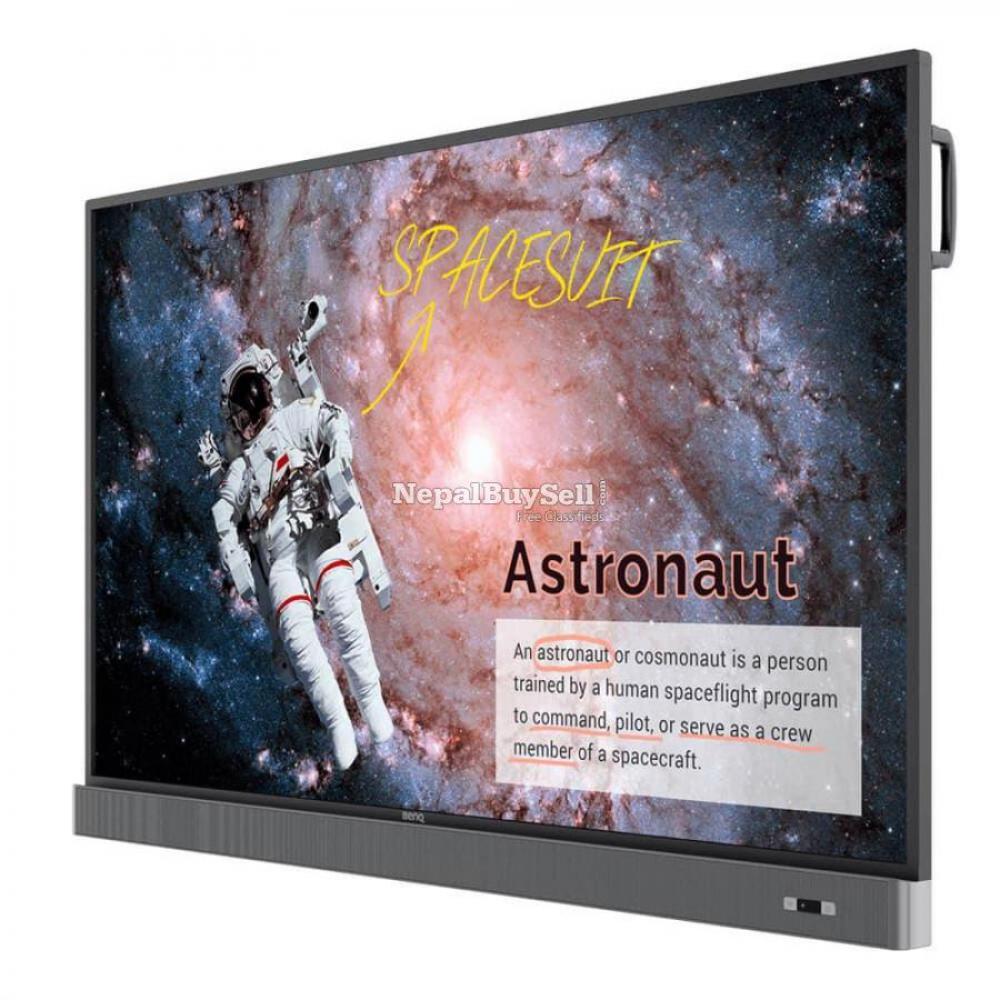 Benq 4k Uhd 75 Education Interactive Flat Panel Display   Rm7502k - 1/1