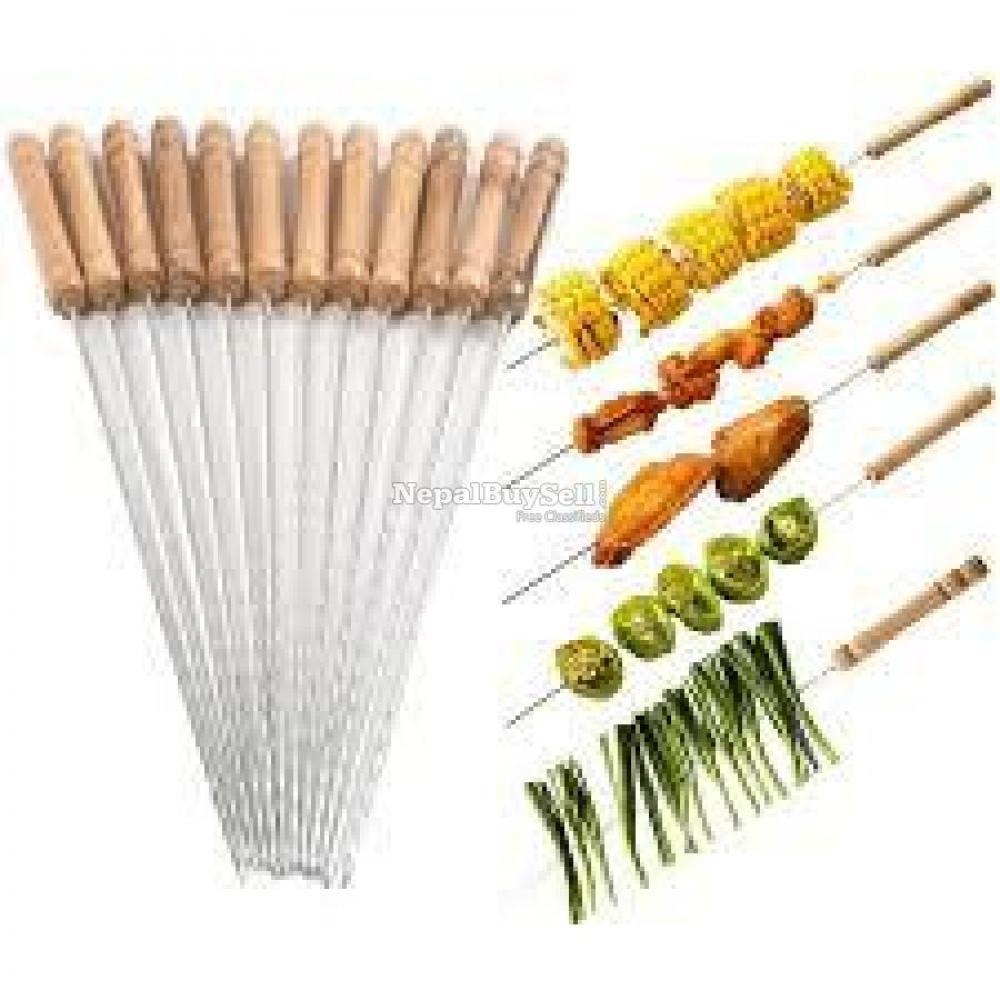Barbecue Skewers-12 Pieces Free Delivery All Over Nepal - 1/1