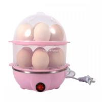 Double Layer Egg Boiler Electric Cooker - Color Assorted
