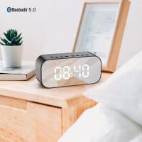 Alarm and clock bluetooth speaker