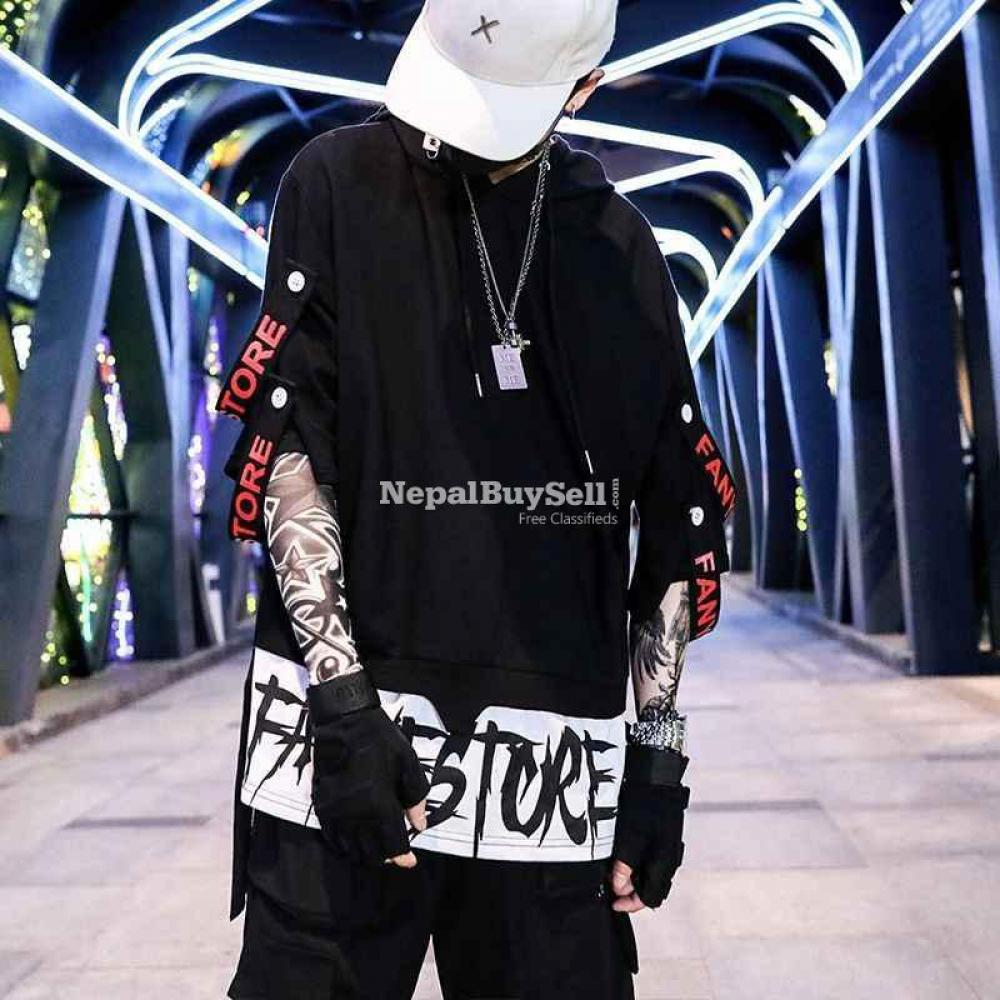 Hip-hop summer boys short-sleeved men's trendy t-shirt loose summer fashion men's clothes - 3/4
