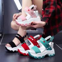 Late evening shoes increase women's 2021 summer new breathable wild Korean