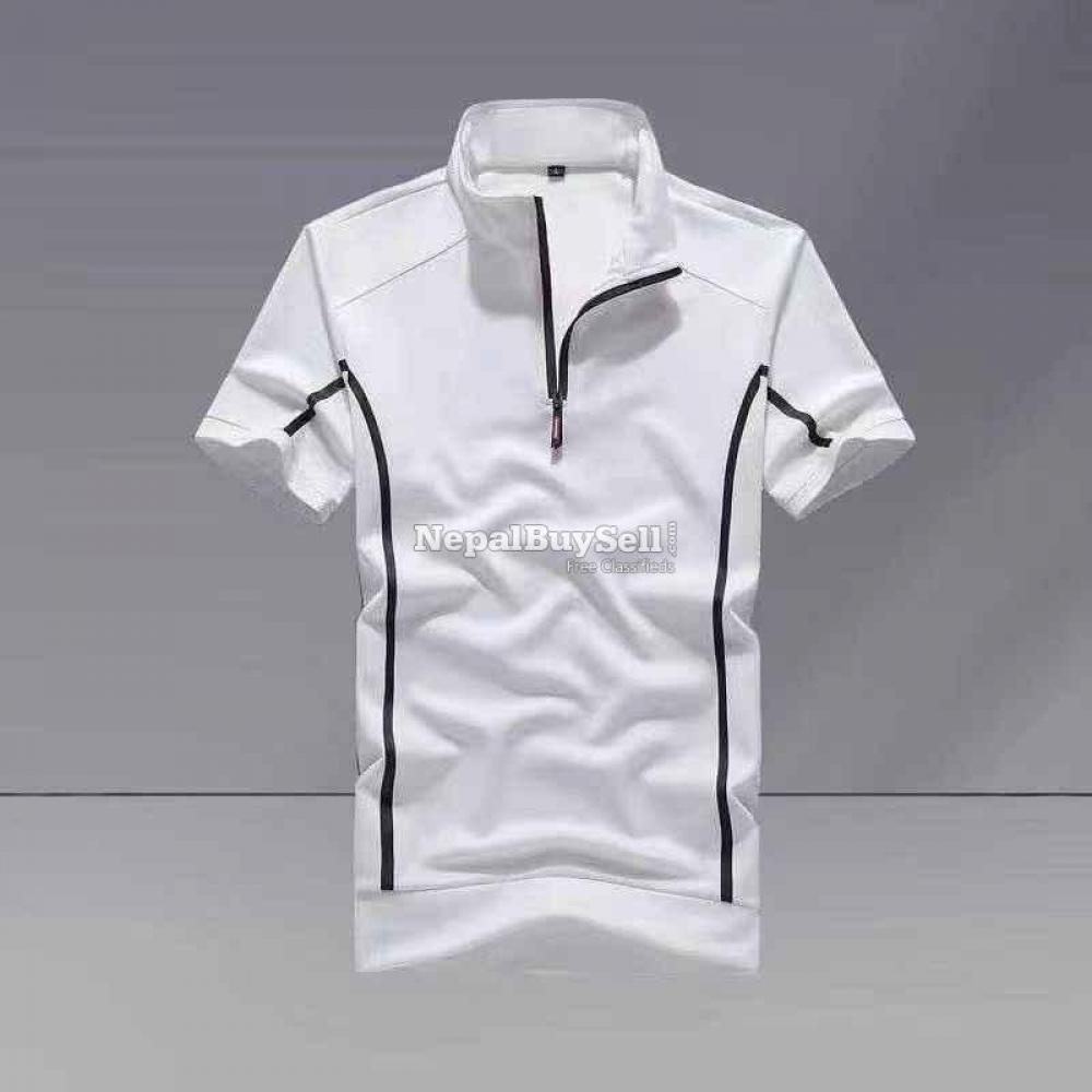 Sports suit men's spring and summer 2021 new fashion stand-up collar short-sleeved casual running - 5/6