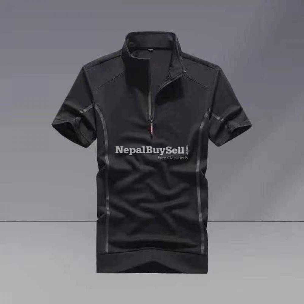 Sports suit men's spring and summer 2021 new fashion stand-up collar short-sleeved casual running - 6/6