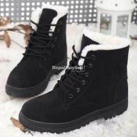 Suede Leather High Top Ankle Boots Winter Shoes