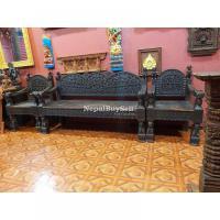 Intricately Carved Tharu Sofa Set