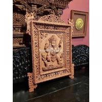 Intricately Handcarved Ganesh Frame
