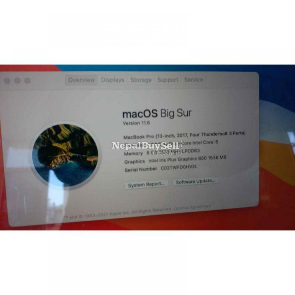 MacBook pro i5, 2017, retina display with true tone. Touch bar model - 4/6