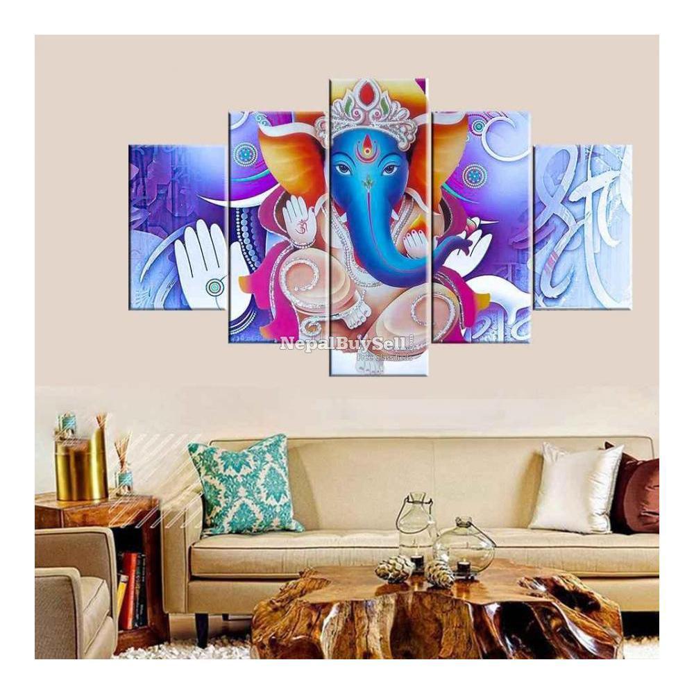 5-Panel Canvas Wall Art - 5/10