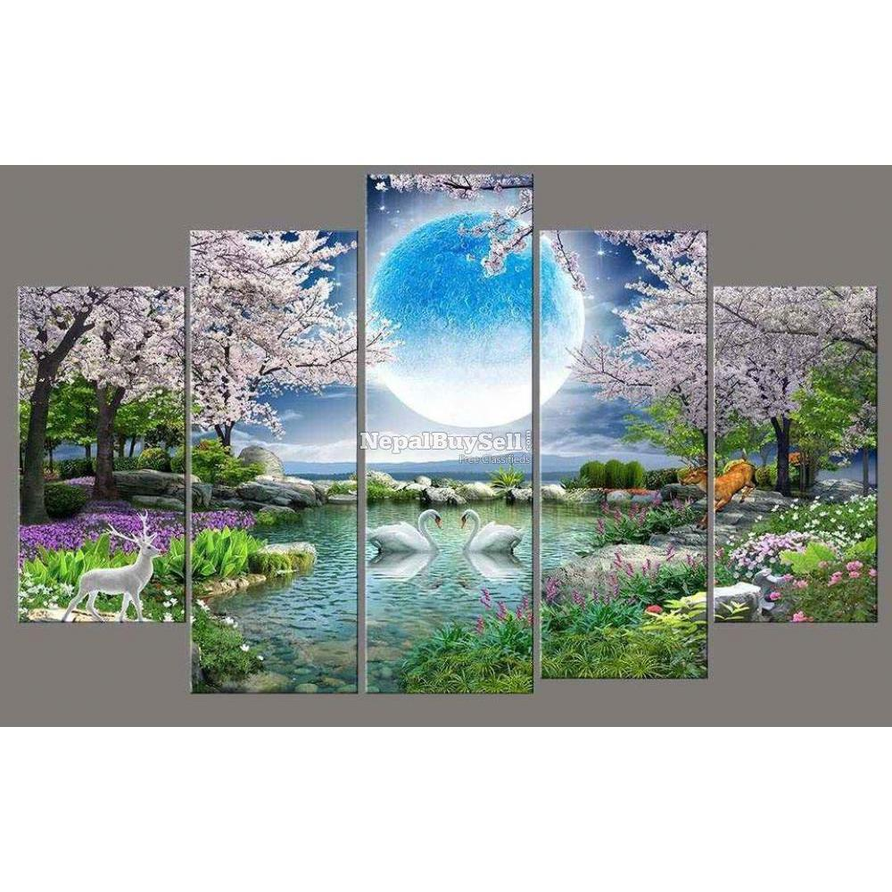 5-Panel Canvas Wall Art - 10/10